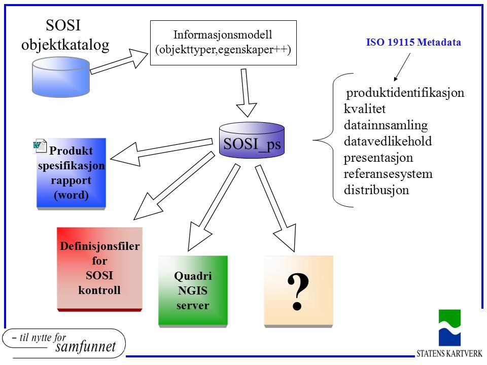 SOSI objektkatalog SOSI_ps kvalitet datainnsamling datavedlikehold