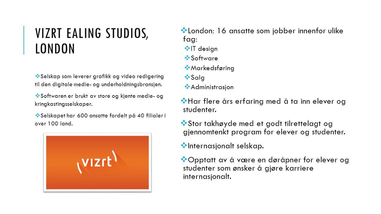 VIZRT Ealing studios, london