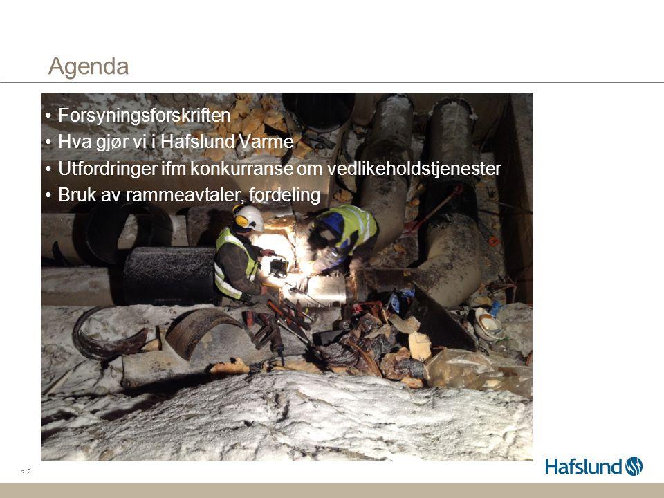 Agenda Forsyningsforskriften Hva gjør vi i Hafslund Varme