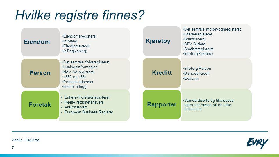 Hvilke registre finnes