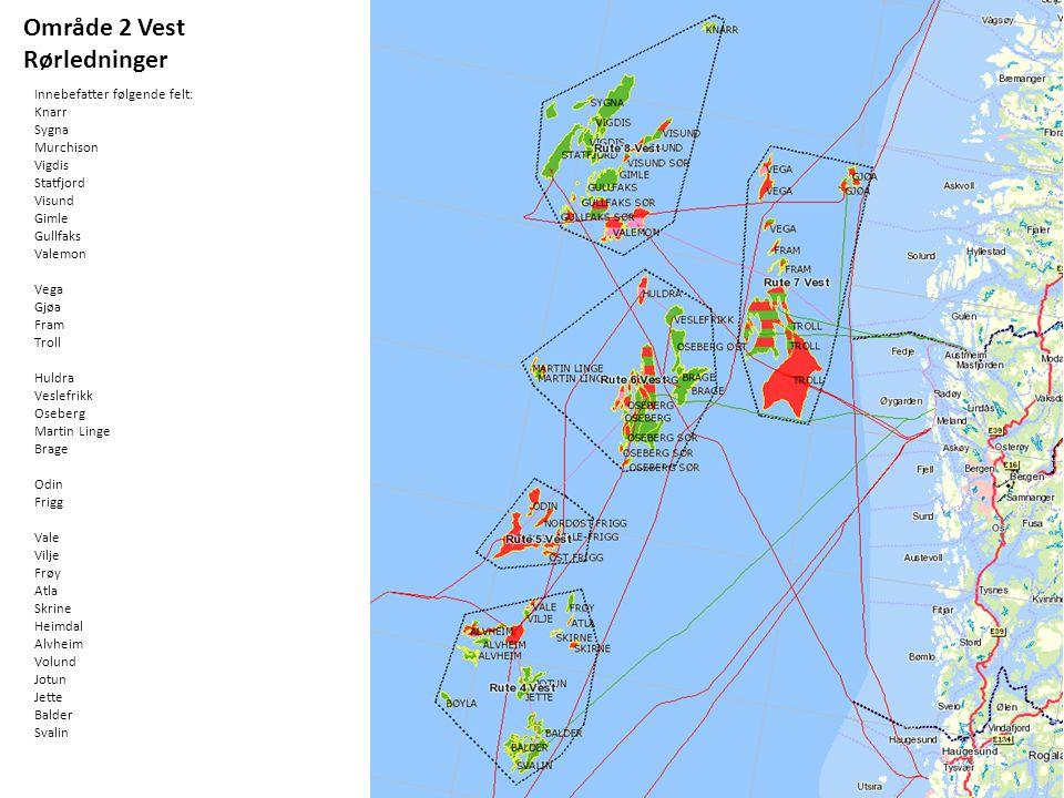 Område 2 Vest Rørledninger