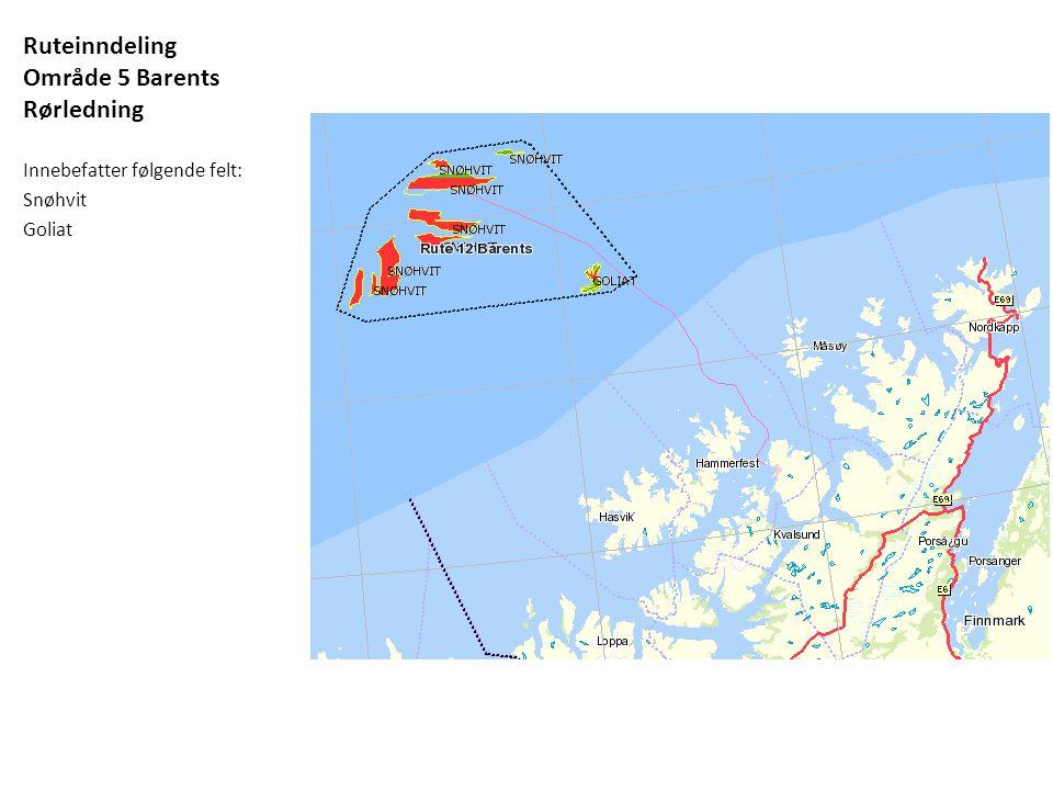 Ruteinndeling Område 5 Barents Rørledning