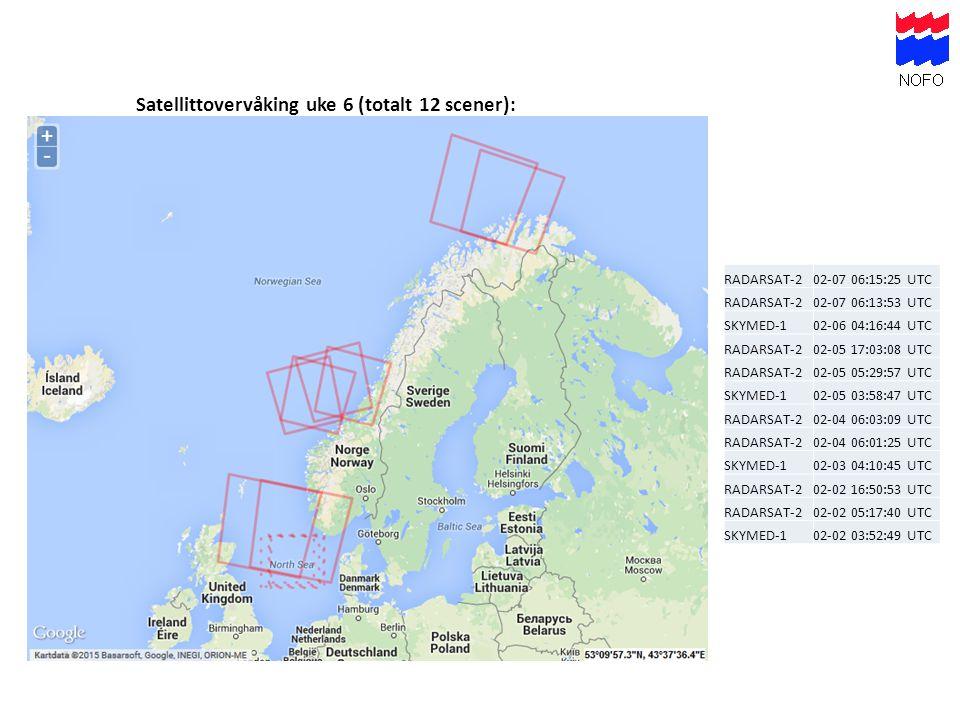 Satellittovervåking uke 6 (totalt 12 scener):