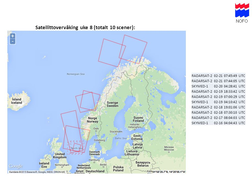Satellittovervåking uke 8 (totalt 10 scener):
