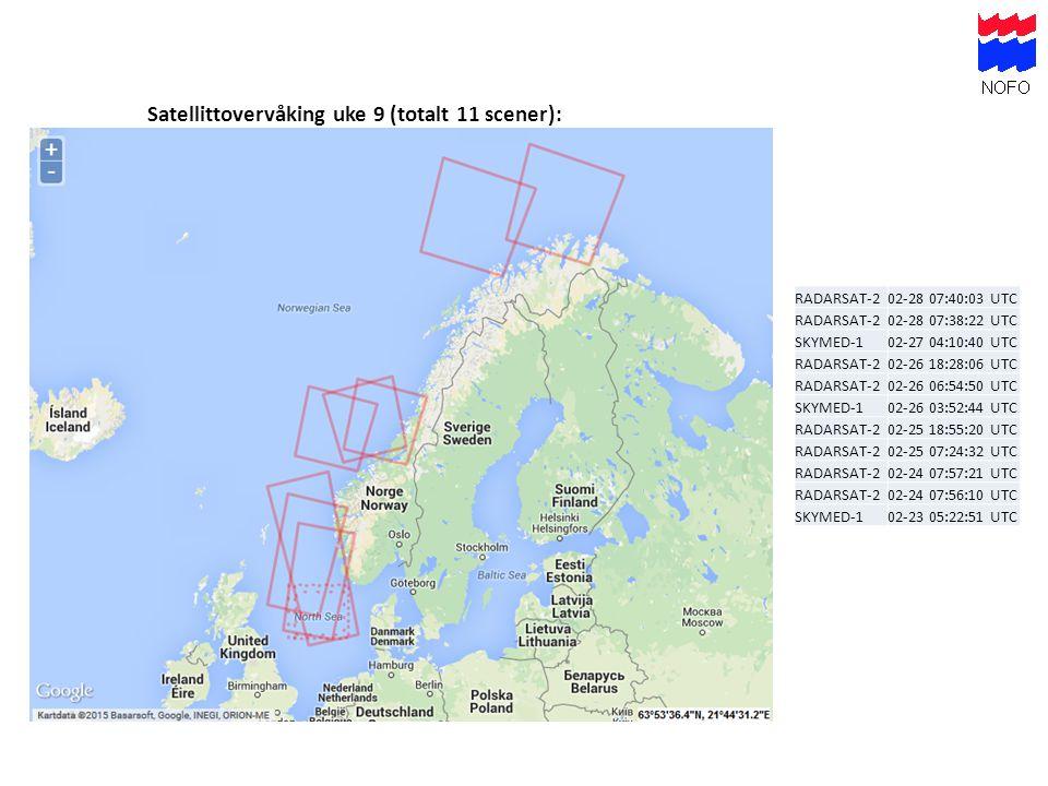 Satellittovervåking uke 9 (totalt 11 scener):