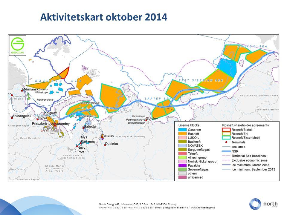 Aktivitetskart oktober 2014