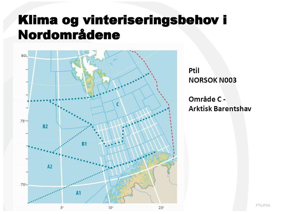 Ptil NORSOK N003 Område C - Arktisk Barentshav