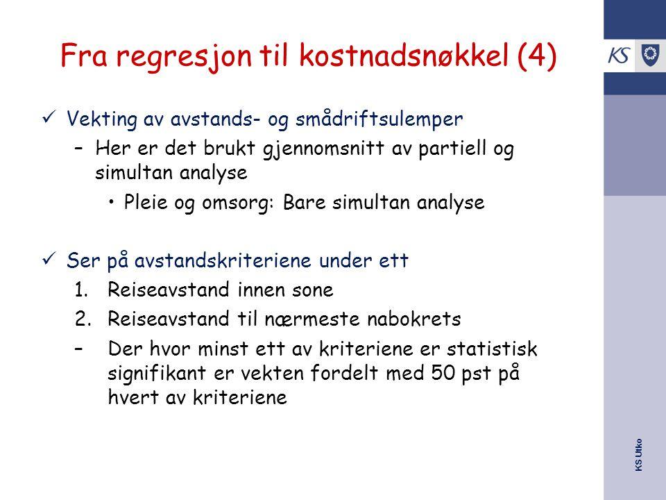 Fra regresjon til kostnadsnøkkel (4)