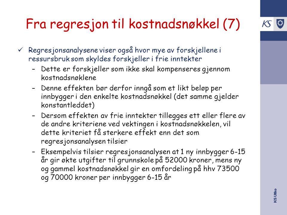 Fra regresjon til kostnadsnøkkel (7)