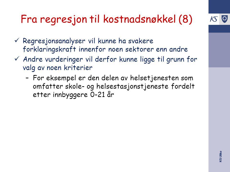Fra regresjon til kostnadsnøkkel (8)
