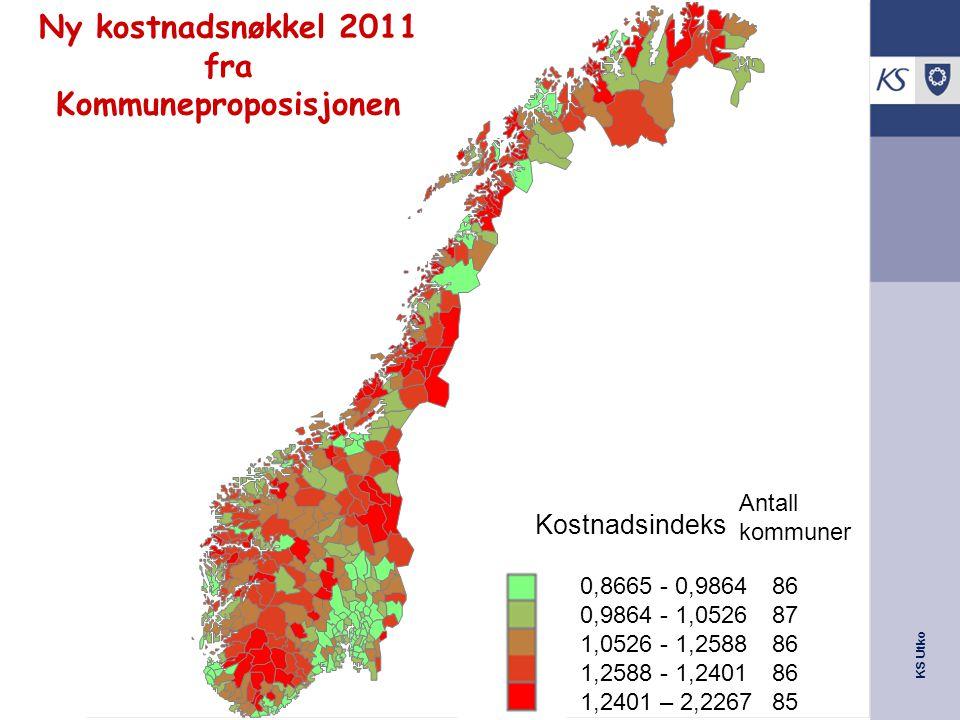 Ny kostnadsnøkkel 2011 fra Kommuneproposisjonen