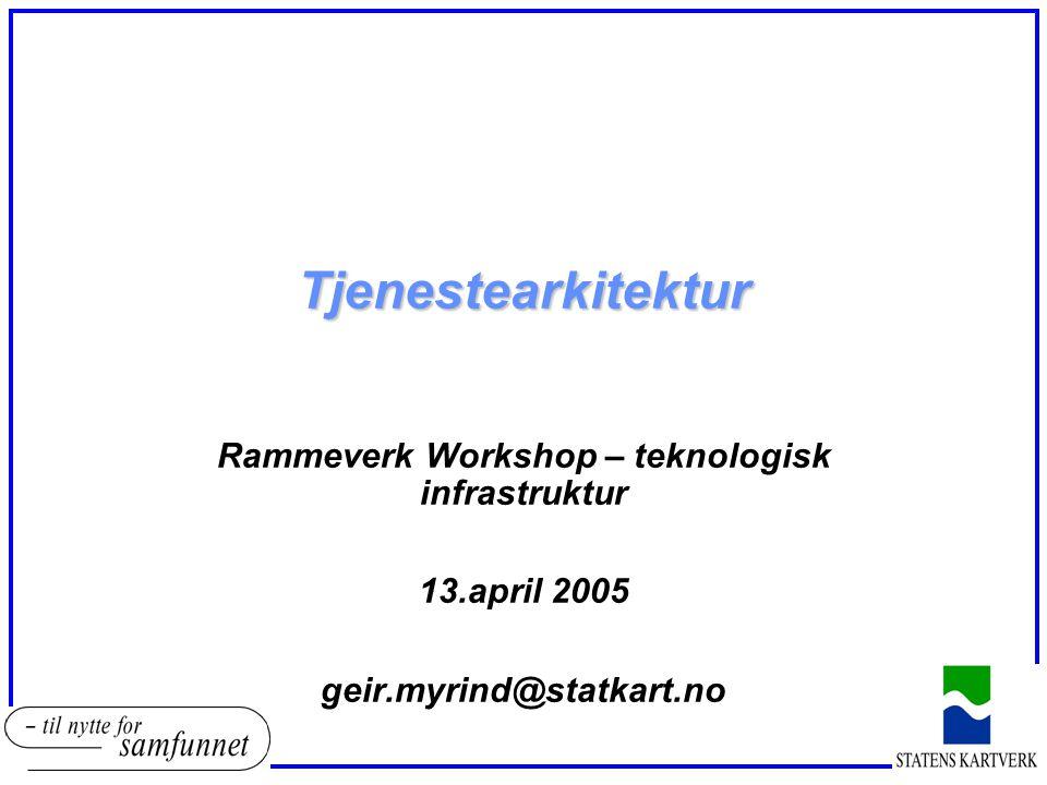 Rammeverk Workshop – teknologisk infrastruktur