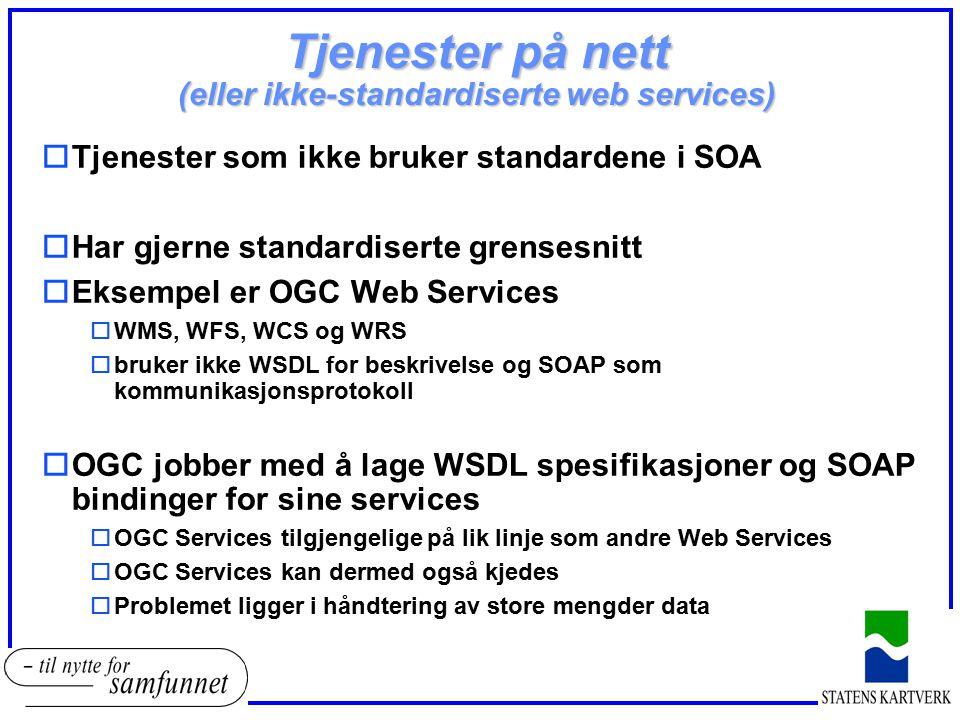 Tjenester på nett (eller ikke-standardiserte web services)