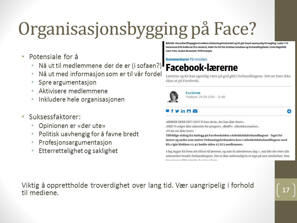 Organisasjonsbygging på Face