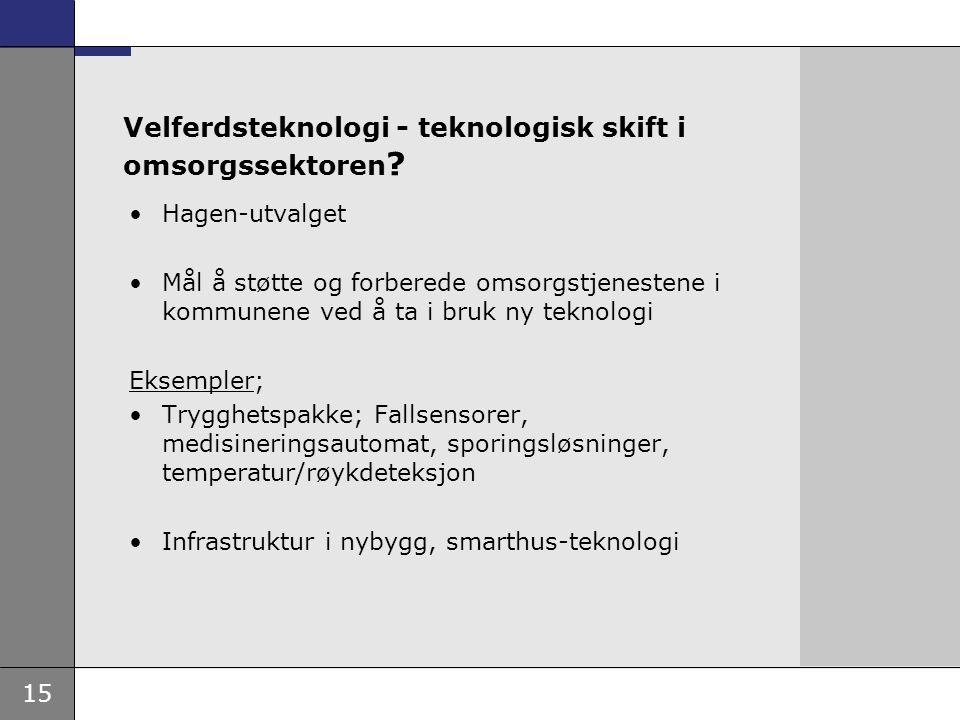 Velferdsteknologi - teknologisk skift i omsorgssektoren