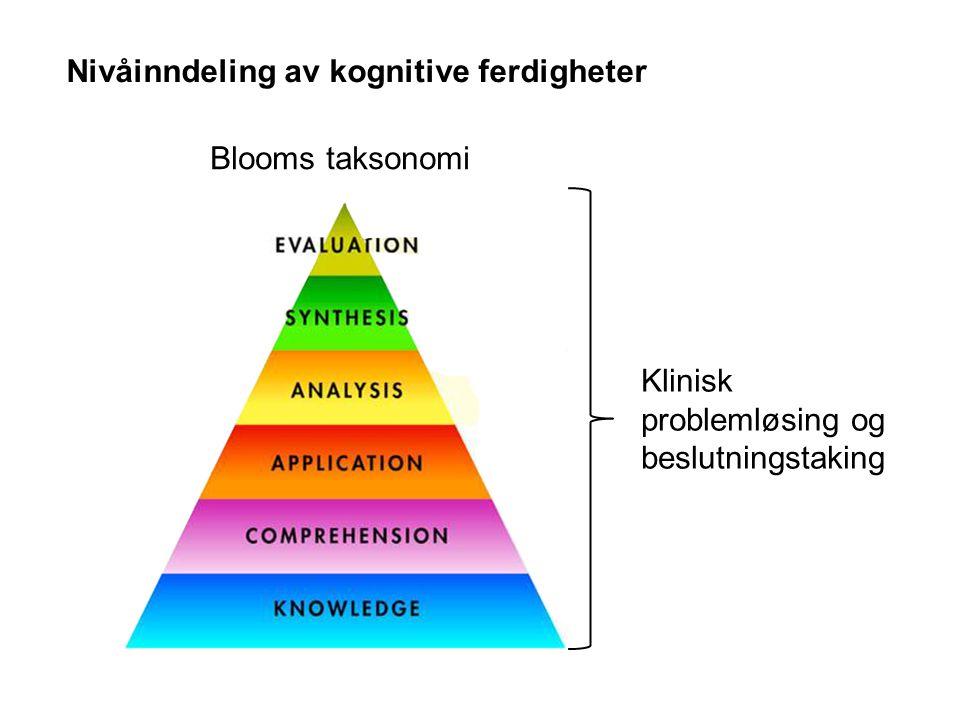 Nivåinndeling av kognitive ferdigheter