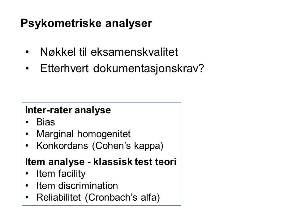 Psykometriske analyser