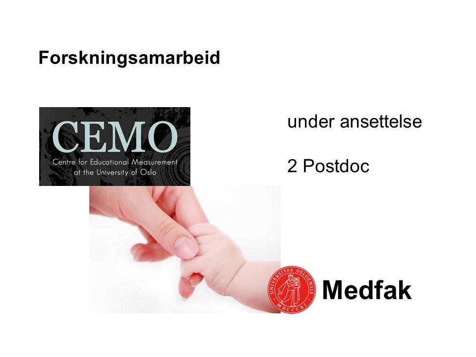 Forskningsamarbeid under ansettelse 2 Postdoc Medfak