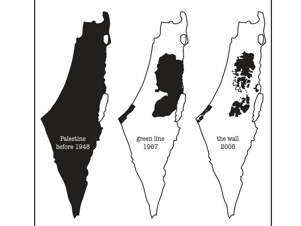 Dette er hva palestinerne sitter igjen med i dag. 4 millioner pal