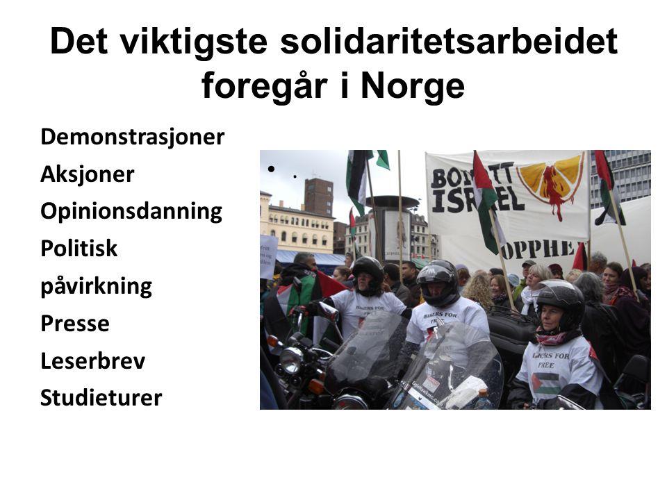 Det viktigste solidaritetsarbeidet foregår i Norge