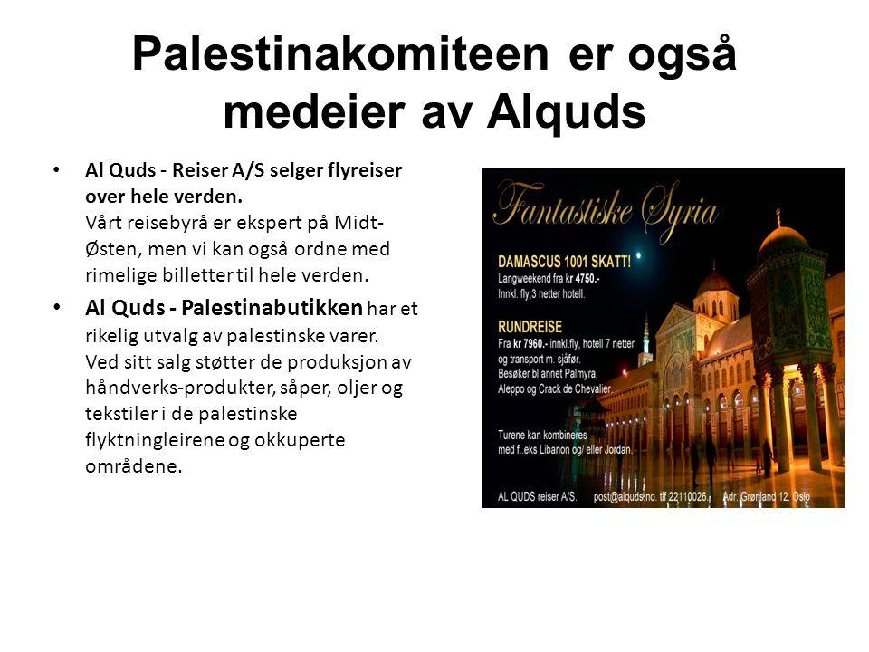 Palestinakomiteen er også medeier av Alquds