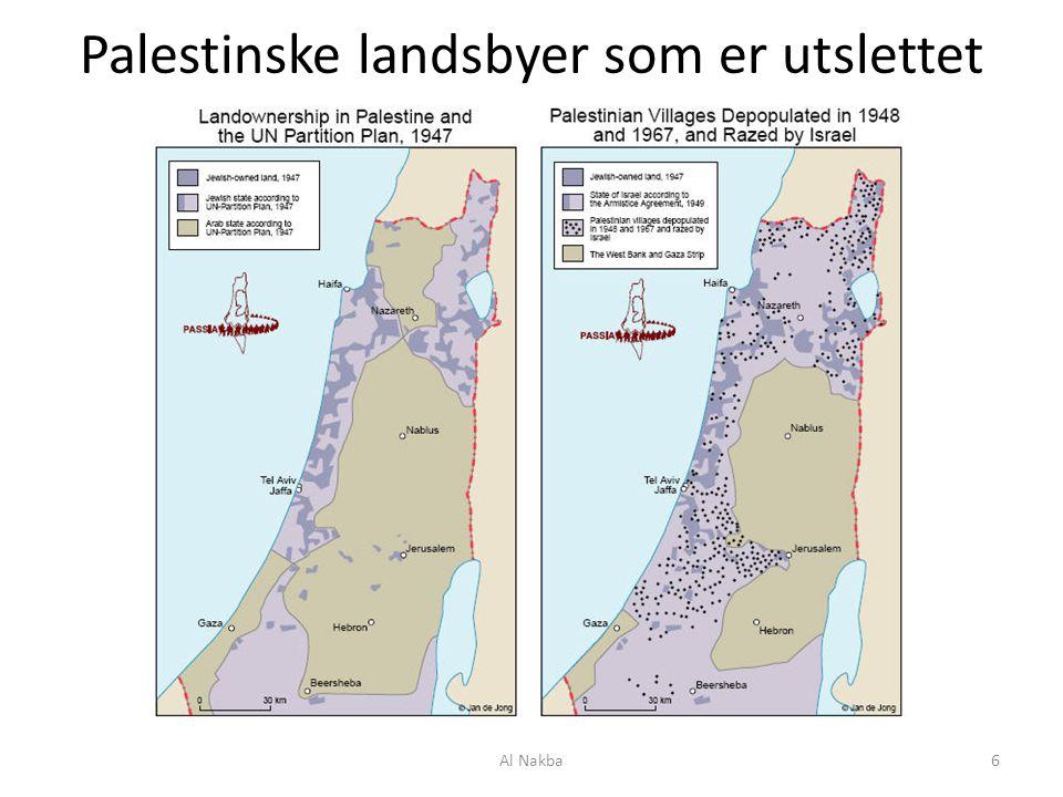 Palestinske landsbyer som er utslettet