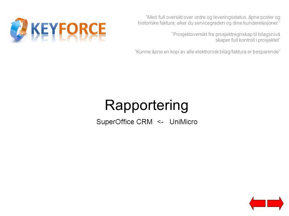 SuperOffice CRM <- UniMicro