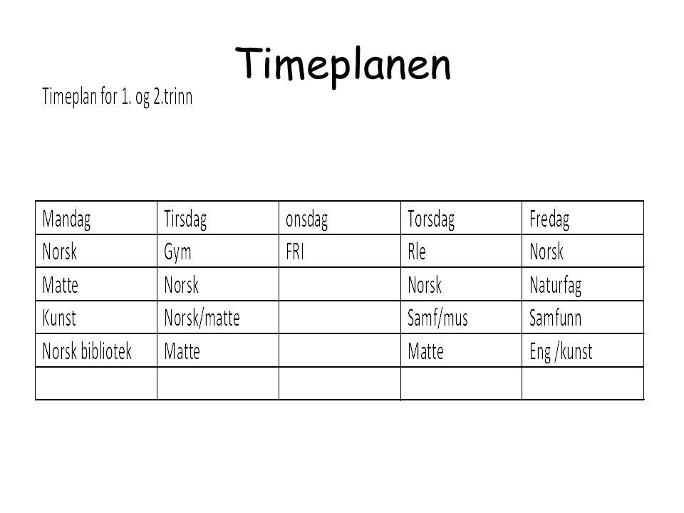 Timeplanen