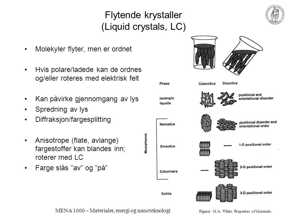 Flytende krystaller (Liquid crystals, LC)
