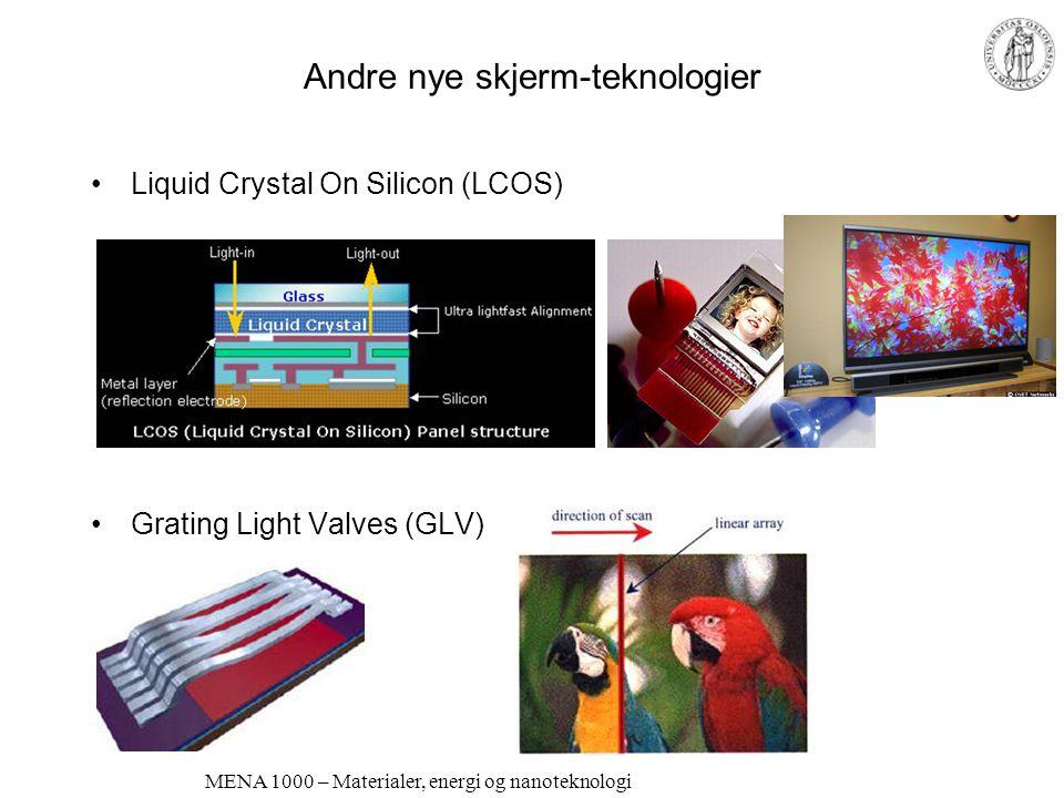 Andre nye skjerm-teknologier
