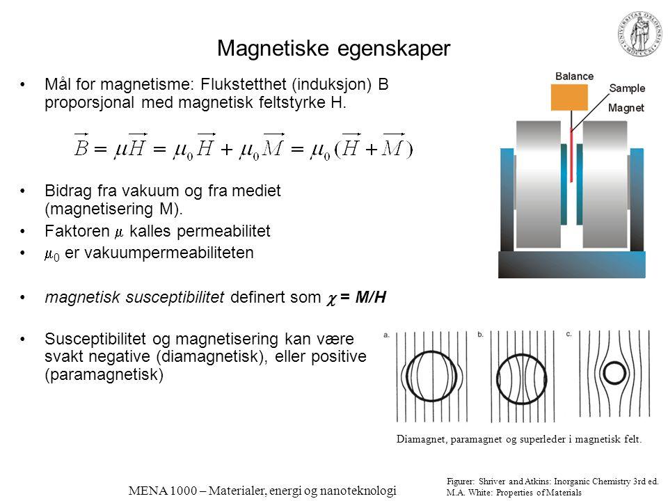 Magnetiske egenskaper
