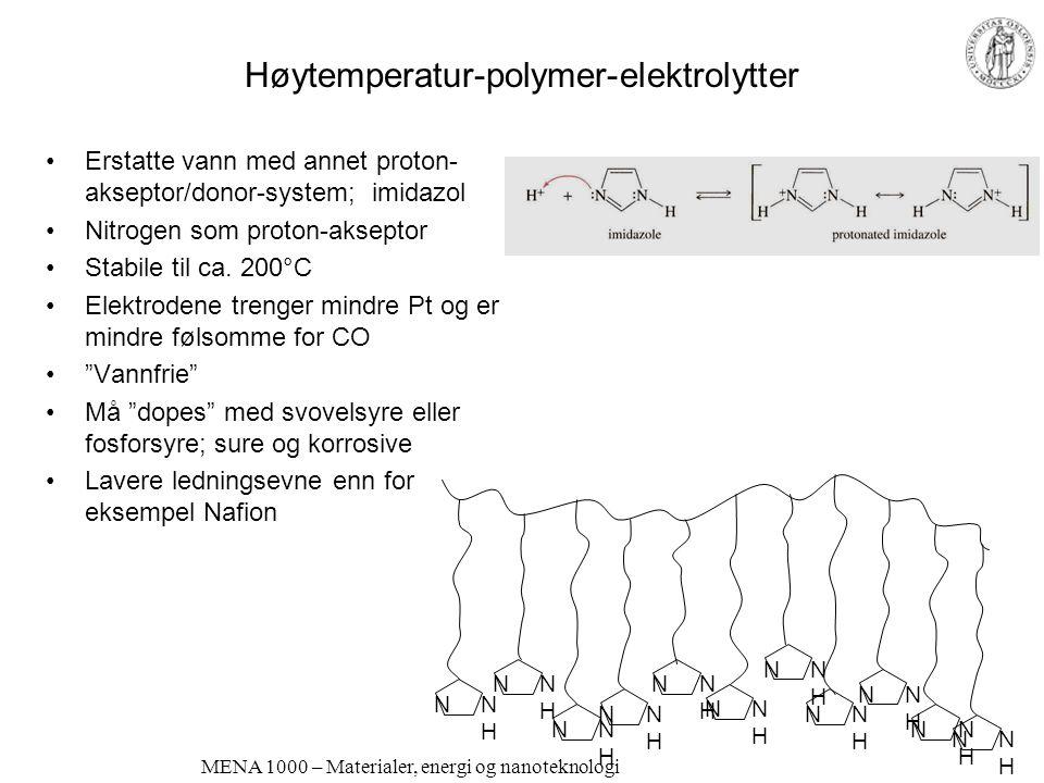 Høytemperatur-polymer-elektrolytter