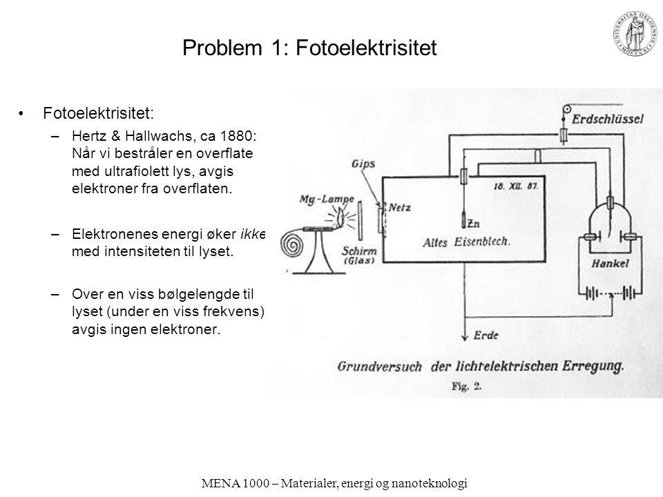 Problem 1: Fotoelektrisitet