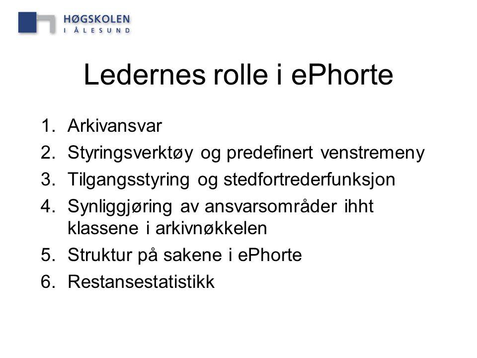 Ledernes rolle i ePhorte