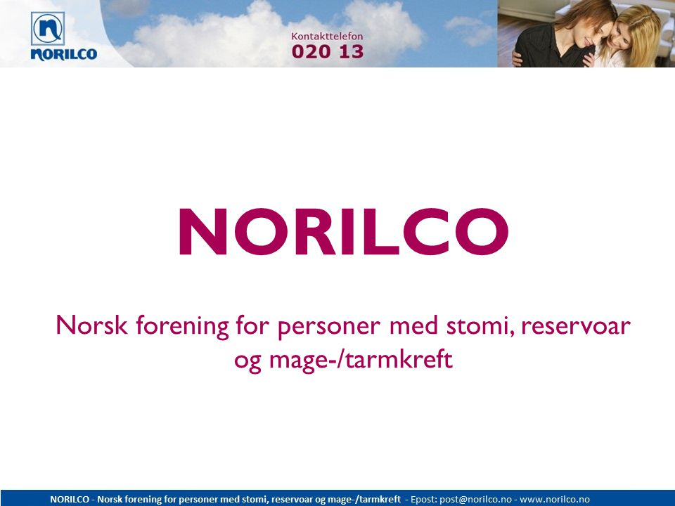 NORILCO Norsk forening for personer med stomi, reservoar og mage-/tarmkreft