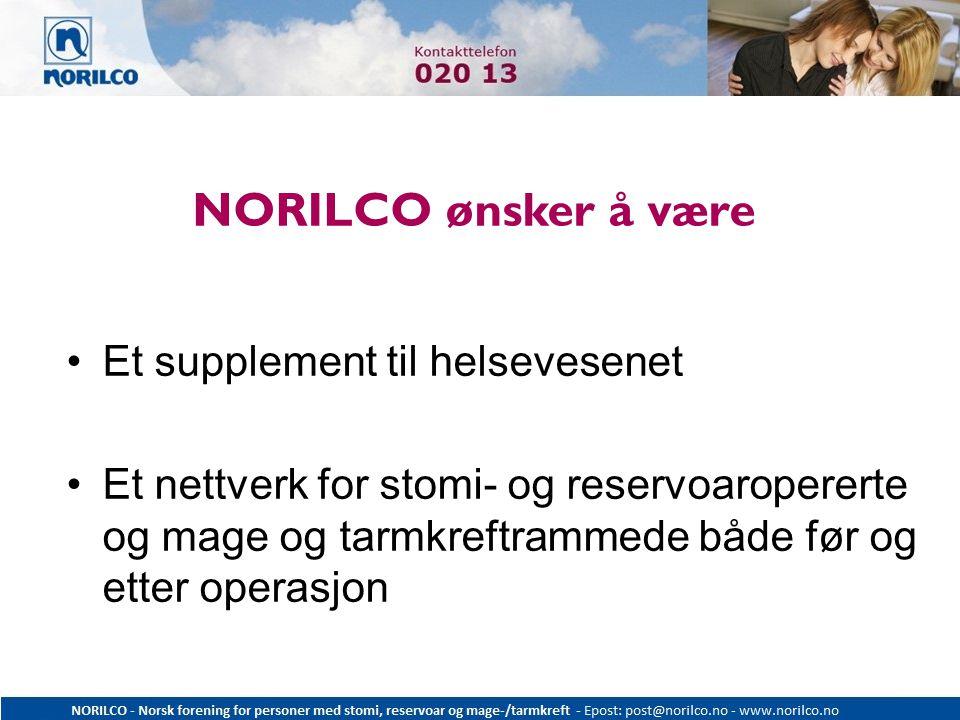 NORILCO ønsker å være Et supplement til helsevesenet
