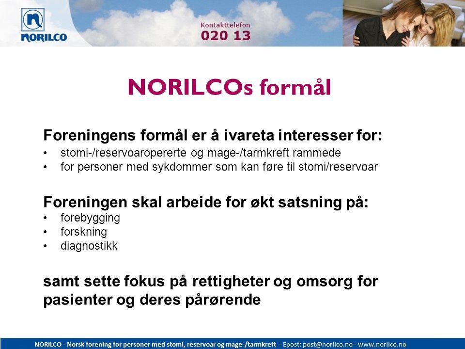 NORILCOs formål Foreningens formål er å ivareta interesser for: