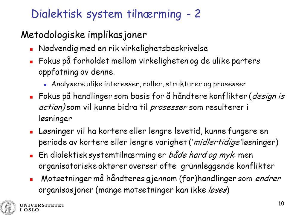 Dialektisk system tilnærming - 2