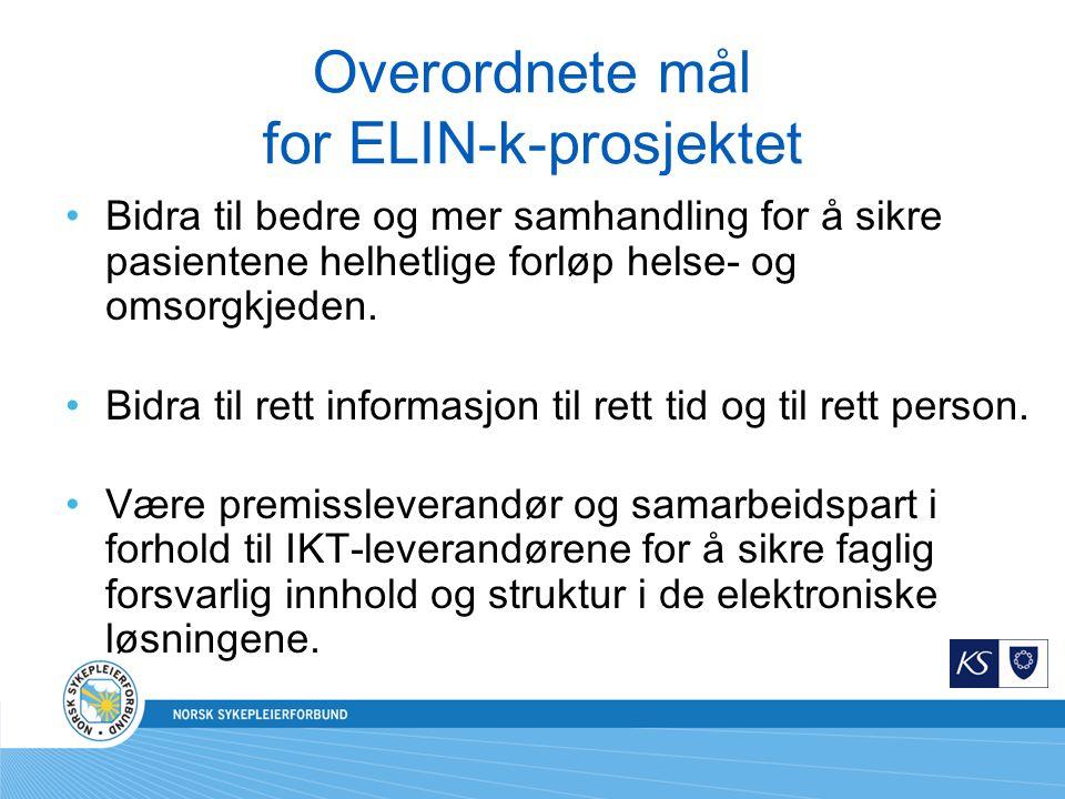 Overordnete mål for ELIN-k-prosjektet