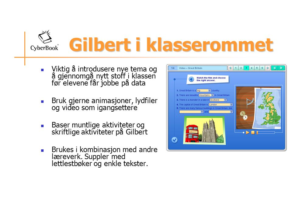 Gilbert i klasserommet