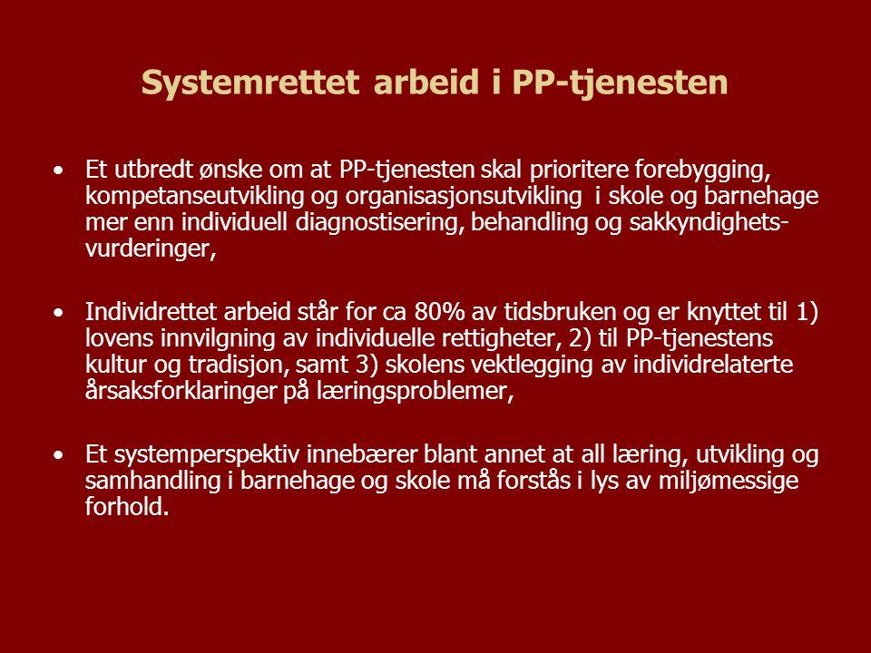 Systemrettet arbeid i PP-tjenesten