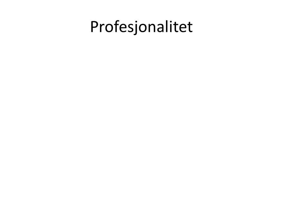 Profesjonalitet