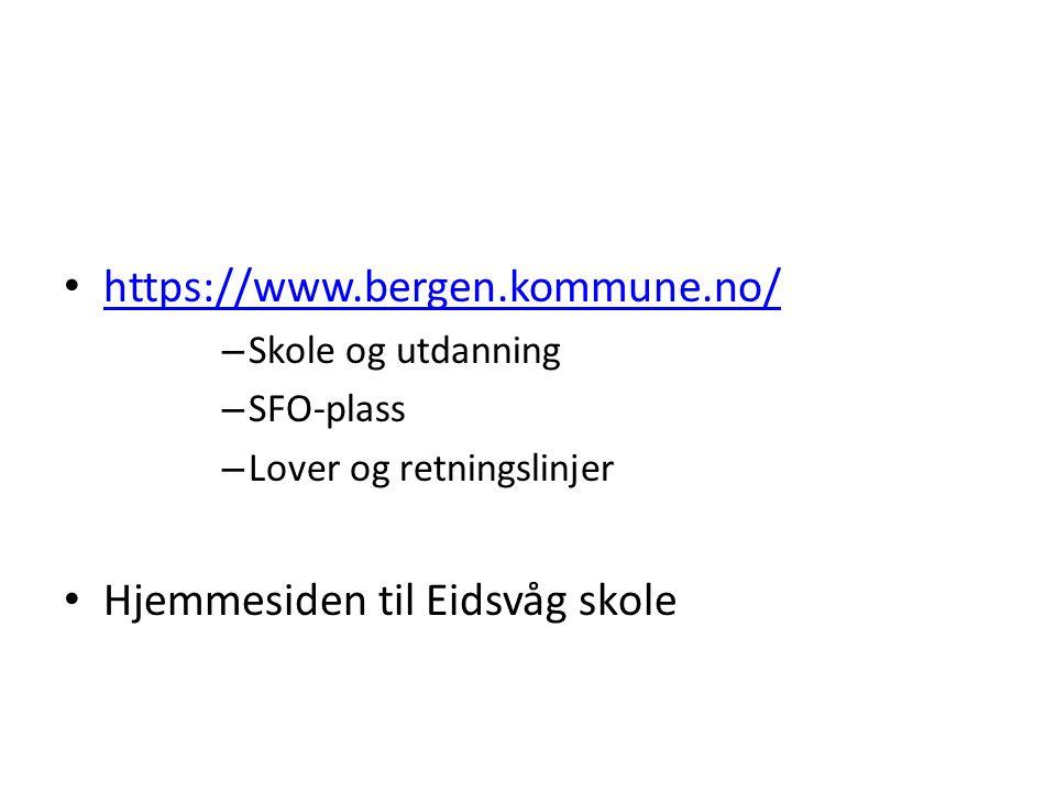 Hjemmesiden til Eidsvåg skole