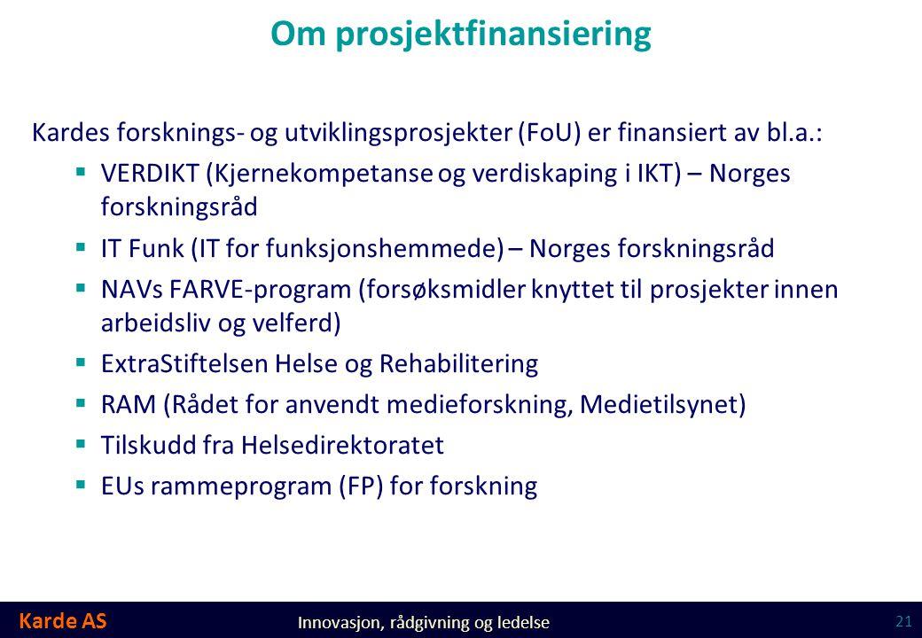 Om prosjektfinansiering