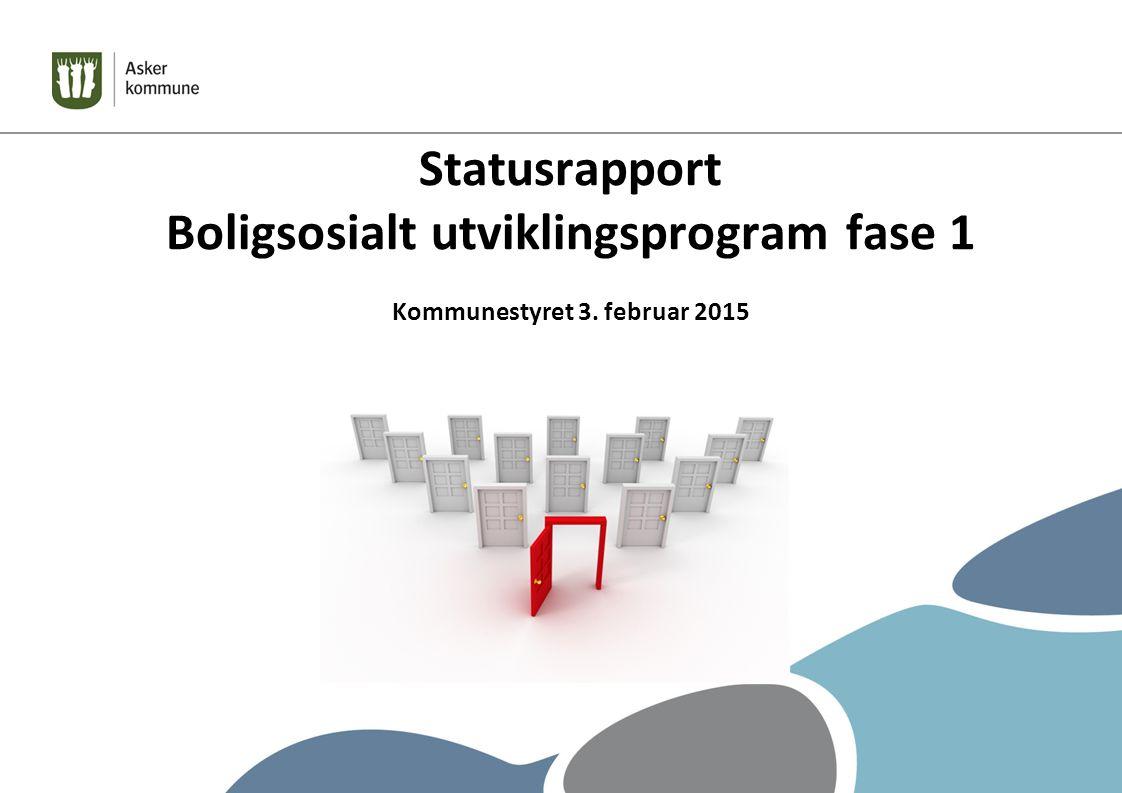 Statusrapport Boligsosialt utviklingsprogram fase 1 Kommunestyret 3