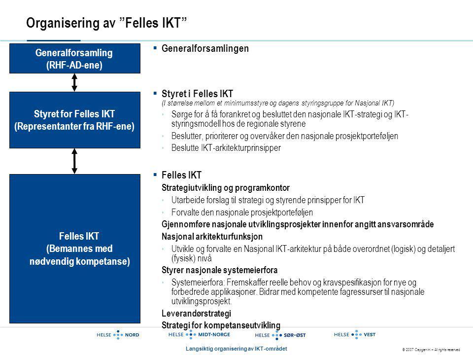 Organisering av Felles IKT