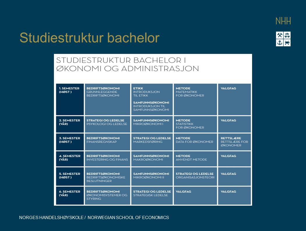 Studiestruktur bachelor