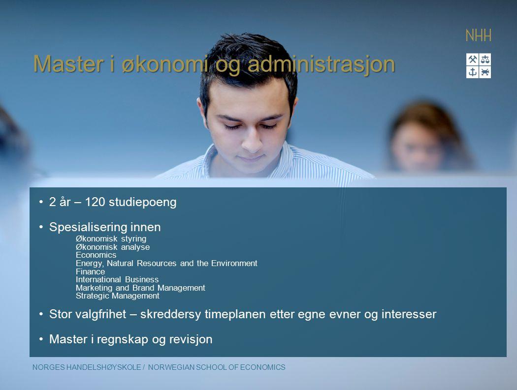 Master i økonomi og administrasjon