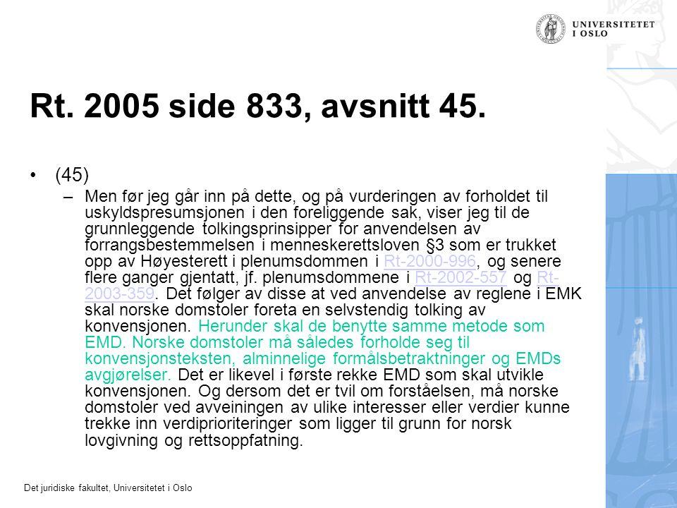 Rt. 2005 side 833, avsnitt 45. (45)