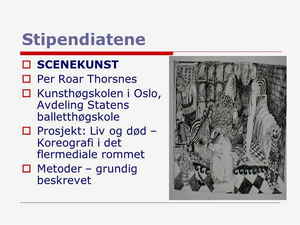 Stipendiatene SCENEKUNST Per Roar Thorsnes